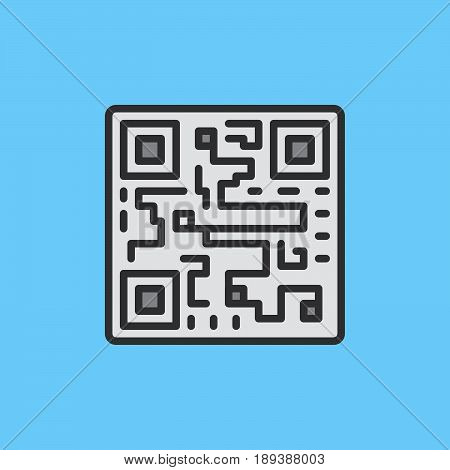 QR code filled outline icon vector sign colorful illustration