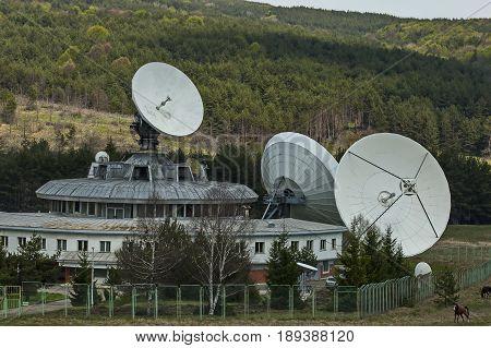 Ground satellite station or Geodesy observatory Plana,  Plana mountain, Bulgaria