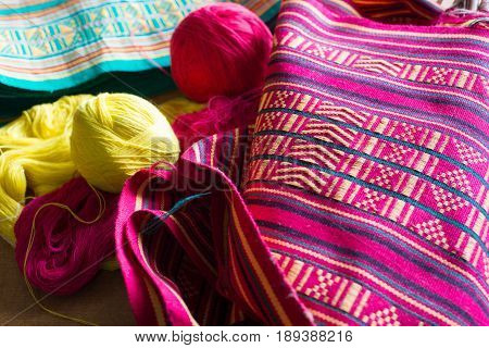 colourful traditional handicraft of Sikkim in India