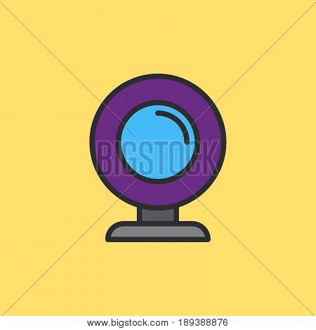 Webcam filled outline icon vector sign colorful illustration
