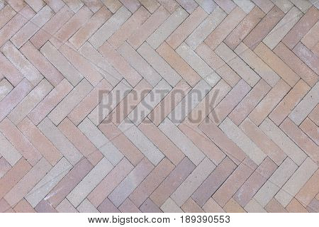 pattern of brown brick pavement for background