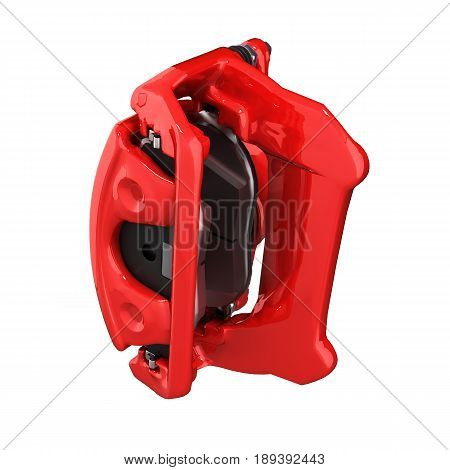 Brake Support Isolated On White Background 3D