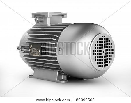 Electric Motor Isolated On White Background 3D