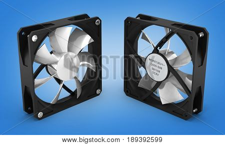 Computer Cooler Isolated On Gradient Background 3D Render