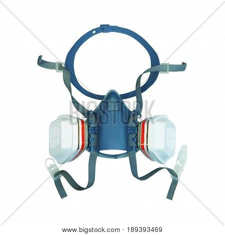 Conservation-Restoration Professional use Gas Mask or half mask isolated on white with clipping path...
