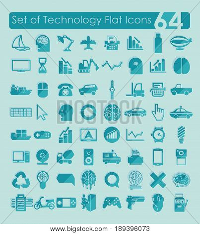 It is a Set of technology icons
