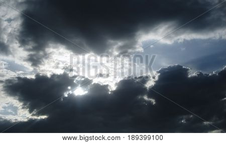 Sky, evening sky, beautiful sky and clouds in the evening, sunset