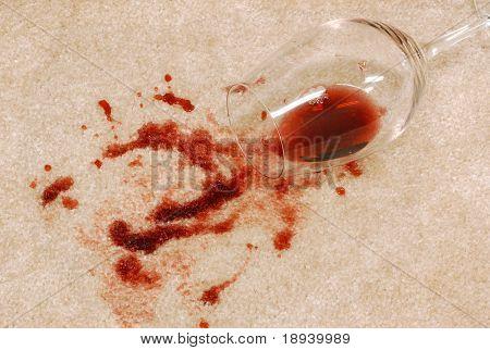 Wine spill on the carpet poster