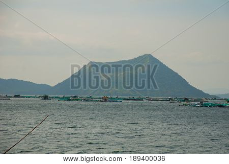 Taal Volcano on Luzon Island North of Manila in Philippines