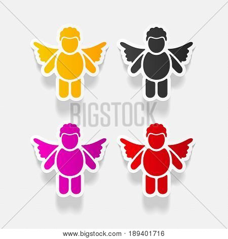 It is a realistic design element angel