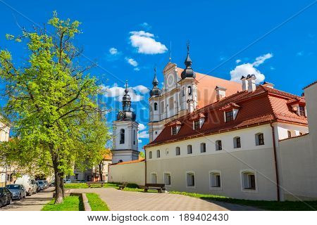 Church Of St. Michael The Archangel And The Bernadine Monastery. Vilnius, Lithuania.