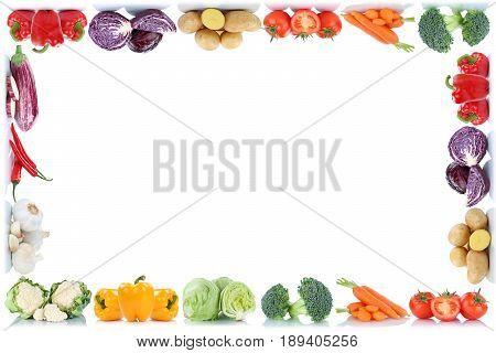 Vegetables Frame Copyspace Copy Space Border Tomatoes Lettuce Bell Pepper