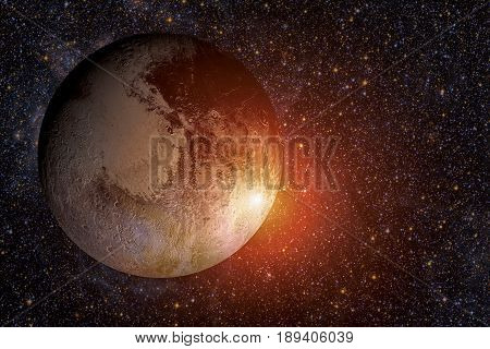 Solar System - Pluto. It Is A Dwarf Planet In The Kuiper Belt.