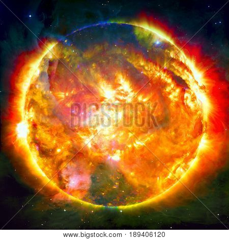 Awesome background - planets in space, nebulae and stars. Elements of this image furnished by NASA
