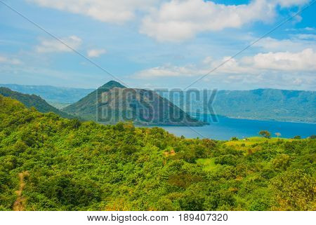 Taal Volcano On Luzon Island North Of Manila, Philippines