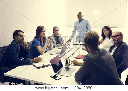 Startup Business Team Brainstorming on  Meeting Workshop