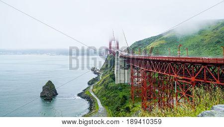 The Golden Gate Bridge in San Francisco on a foggy day - CALIFORNIA