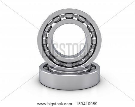 Ball Bearings 3D Illustration