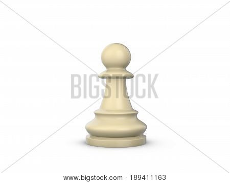 Chess Pawn 3D Illustration