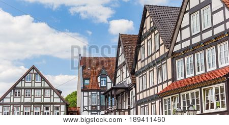 Panorama Of Old Houses At The Narket Square Of Rinteln