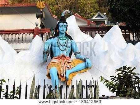 Statue of Hindu Lord Shiva, Rishikesh, India