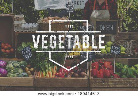 Healthy food organic fresh farmer products