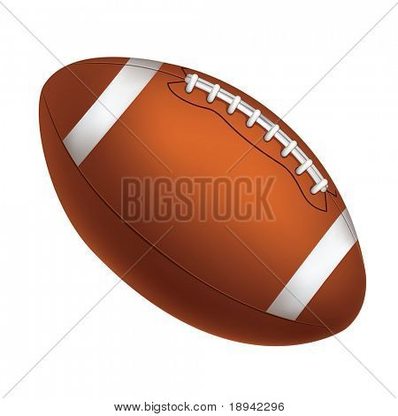Football Ball Isolated on White Background. Vector