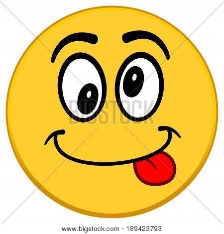 A vector illustration of a Crazy Emoticon.