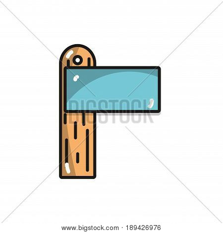 wood surfboard to recreation sport in the waves vector illustration