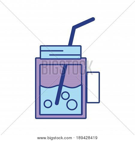 refreshment beverage to hot day in the sun vector illustration