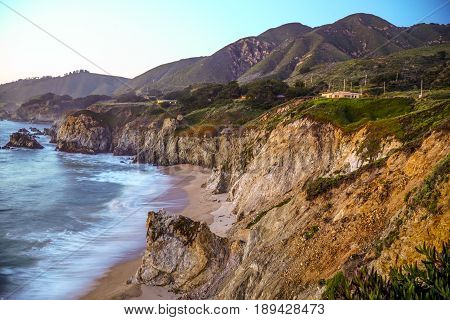 The cliffs at the Pacific coast at Big Sur California - CALIFORNIA