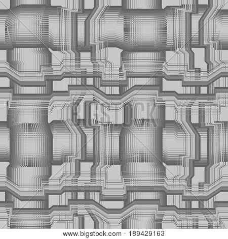 Vector seamless pattern. Modern stylish texture. Geometric striped ornament. Monochrome polylines background.
