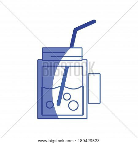 silhouette refreshment beverage to hot day in the sun vector illustration