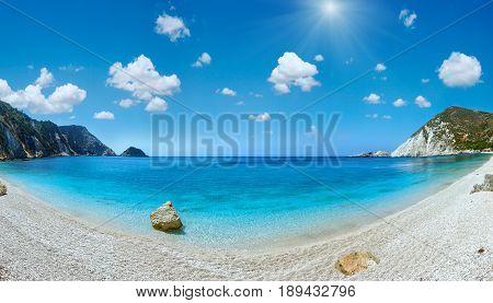 Petani Beach Sunshiny Panorama (kefalonia, Greece)