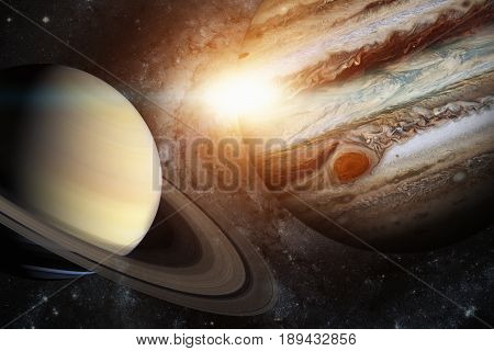 Solar System - Saturn. It Is The Sixth Planet From The Sun.
