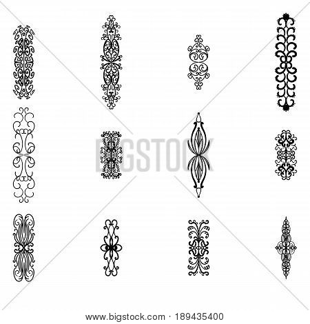 Bunch of simple and elegant design elements. Vector illustration
