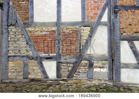 Historic timber frame construction in detail - Germany Hessen