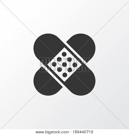 Adhesive Plaster Icon Symbol. Premium Quality Isolated Bandage Element In Trendy Style.