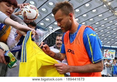 Training Session Of Ukraine National Football Team In Kyiv