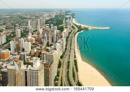 Chicago Skyline And Gold Coast View