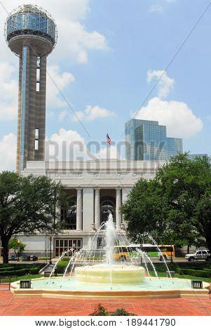 Dallas - May 13 2007: Dallas Union Station also known as Dallas Union Terminal in Dallas Texas.