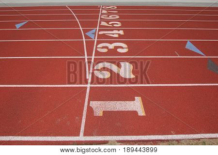 Lanes 1-8 at a high school track