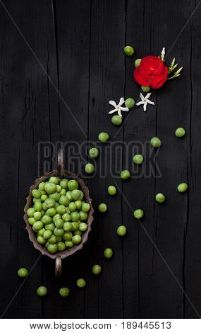 Green Peas Artistic Background