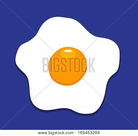 vector illustration of fried egg background flat icon fried egg closeup