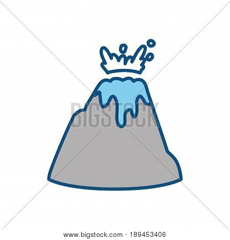 Vulcan mountain symbol icon vector illustration graphic design