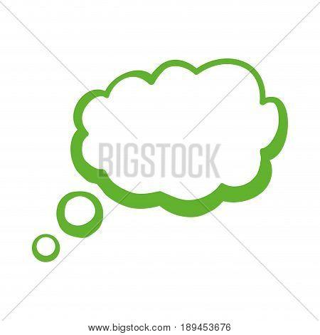 Green think bubble icon vector illustration graphic design