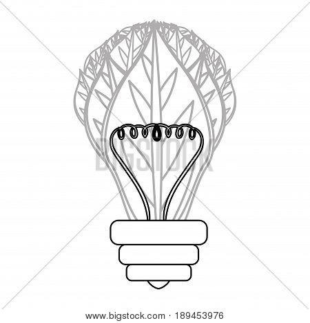 Green energy bulb icon vector illustration graphic design