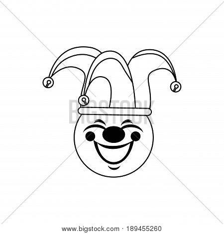 cartoon harlequin icon over white background vector illustration