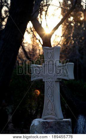 Gravestones in the Christian-Orthodox Assyrian Monastery in Georgia