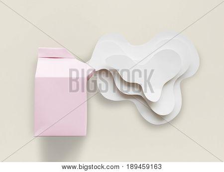 Paper Craft Arts Milk Carton Spill Out